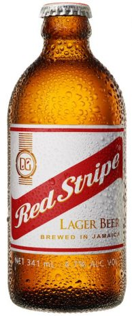 Red Stripe flaska